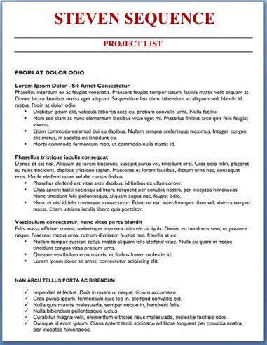 Project List - Senior